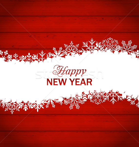 Happy New Year Framework Made of Snowflakes Stock photo © smeagorl