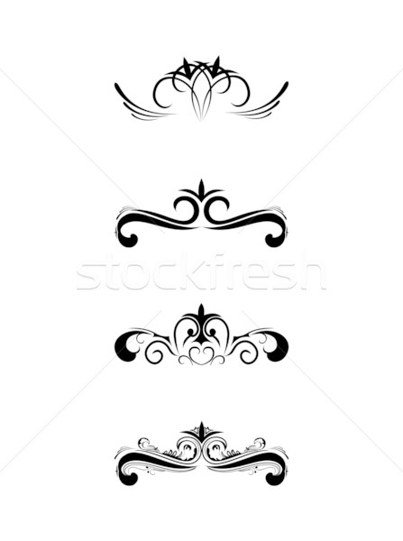 Swirl elements and monograms Stock photo © smeagorl