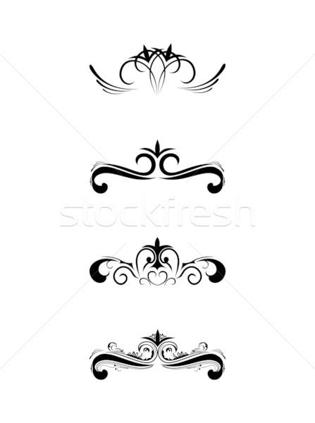 渦 要素 デザイン 葉 背景 ストックフォト © smeagorl