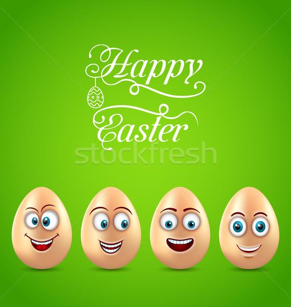 ユーモア イースター カード 面白い 卵 実例 ストックフォト © smeagorl