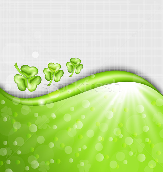 St. Patrick Day background with trefoil  Stock photo © smeagorl