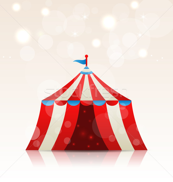 Abrir circo tira diversão tenda ilustração Foto stock © smeagorl