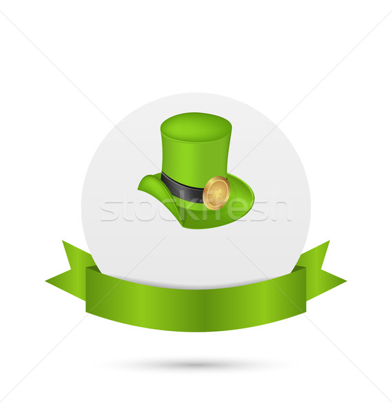 Greeting card with hat and ribbon for St. Patrick's Day Stock photo © smeagorl