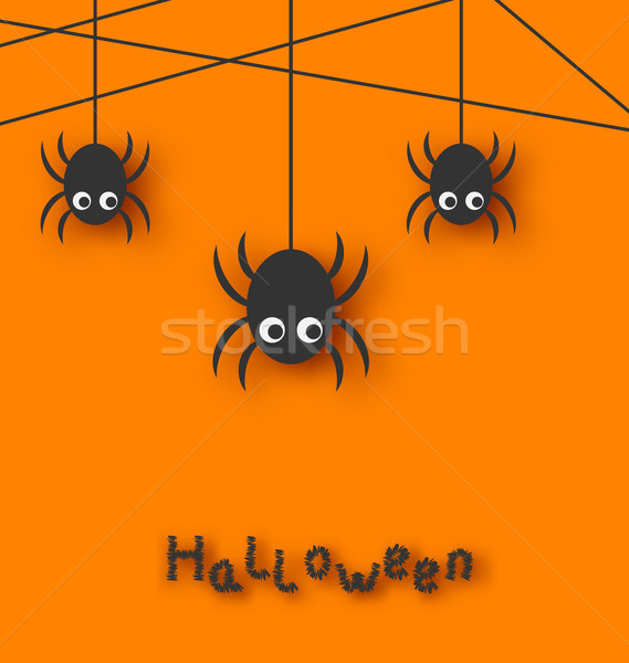 Spiders and Cobweb for Halloween Stock photo © smeagorl