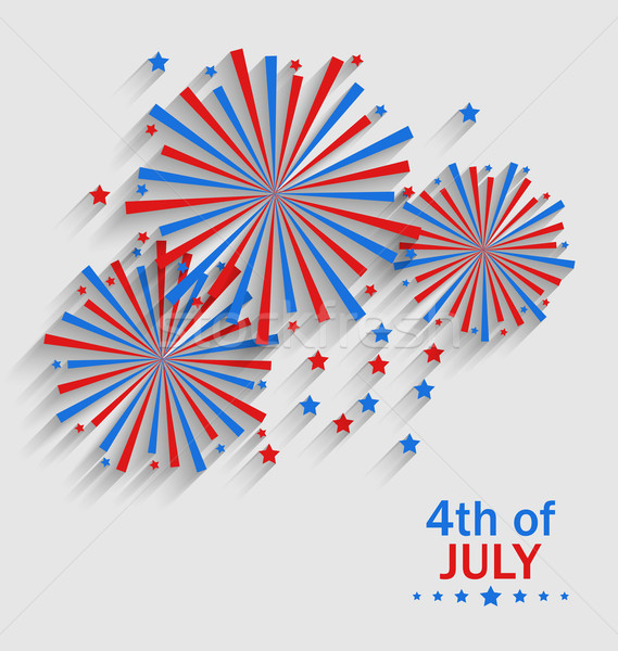 Firework Colorized in Flag US for Celebration Independence Day Stock photo © smeagorl