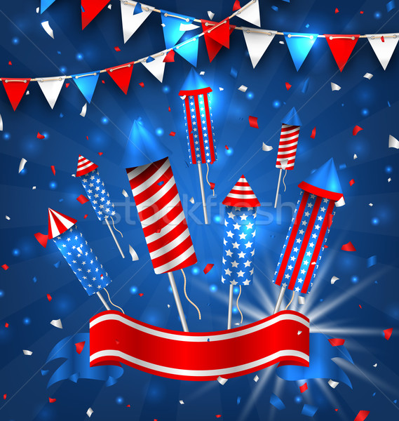 American Greeting Background for Independence Day 4th July Stock photo © smeagorl
