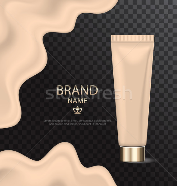 Attractive Texture of Foundation, Glossy Cosmetic Product Stock photo © smeagorl