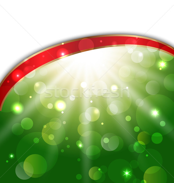 Abstract card with bokeh effect Stock photo © smeagorl