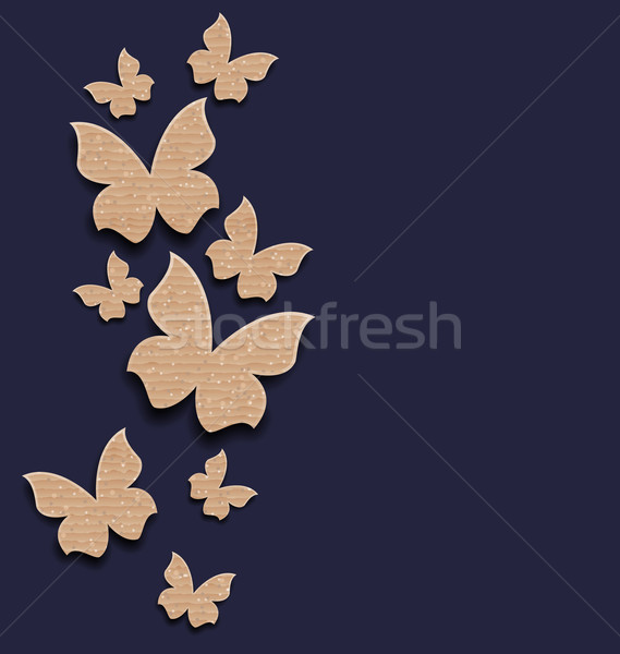 Carton paper butterflies with copy space Stock photo © smeagorl
