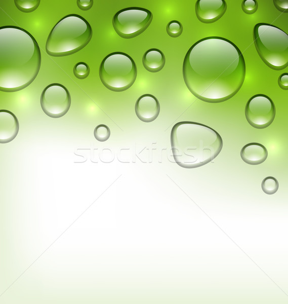 Water abstract green background with drops, place for your text Stock photo © smeagorl