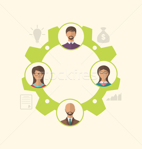 Unity of business people leading to success Stock photo © smeagorl