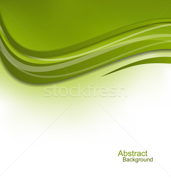 Vert ondulés modèle de conception illustration lumière été Photo stock © smeagorl