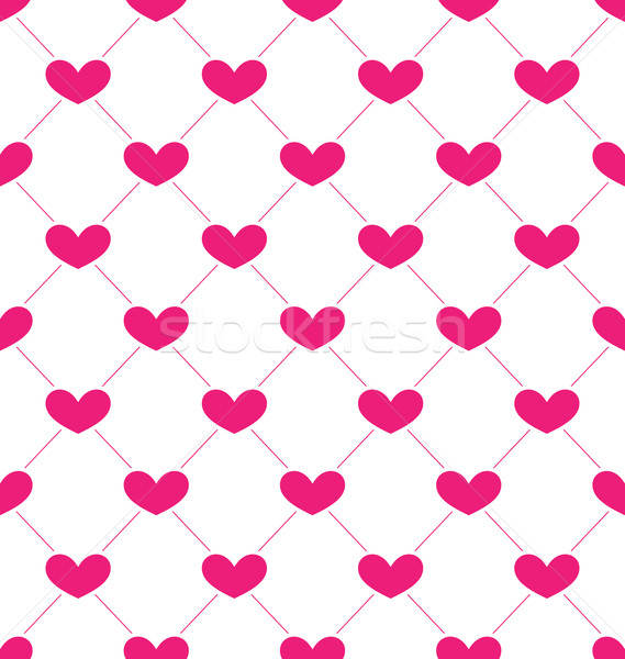 Pink Seamless Pattern with Hearts for Valentines Day Stock photo © smeagorl