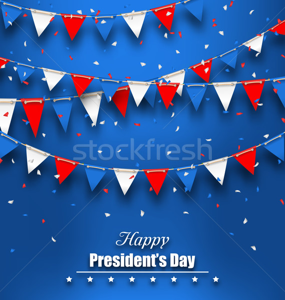 Patriotic Background with Bunting Flags for Happy Presidents Day Stock photo © smeagorl