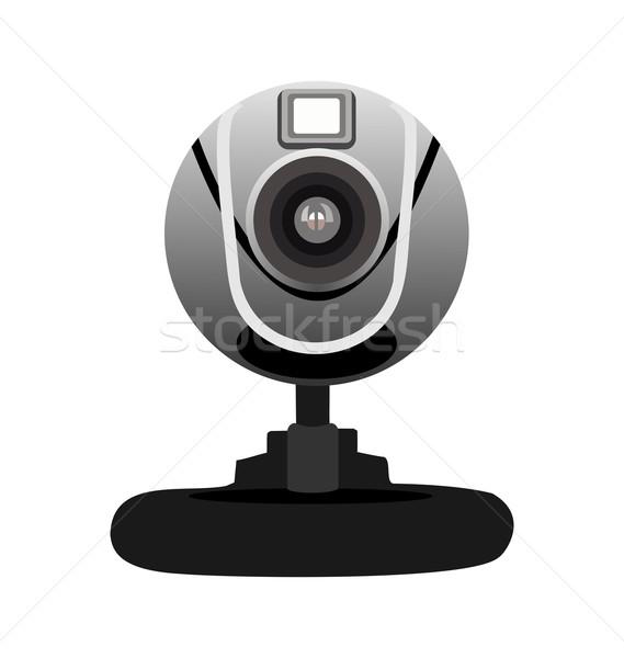 Realistico illustrazione web fotocamera isolato bianco Foto d'archivio © smeagorl