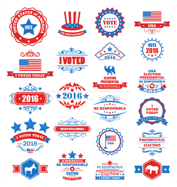 Objects and Symbols for Vote of USA Stock photo © smeagorl