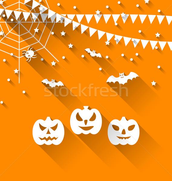 Halloween Paper Background Stock photo © smeagorl