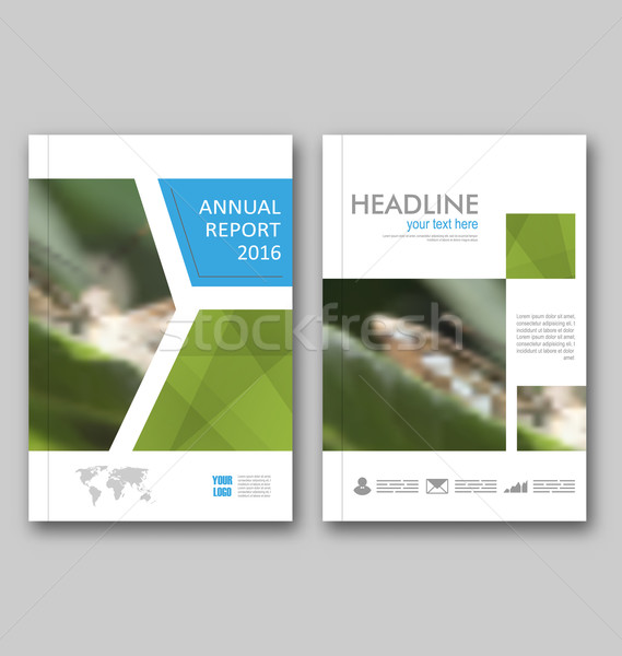 Brochure Template Layout, Cover Design Annual Report Stock photo © smeagorl