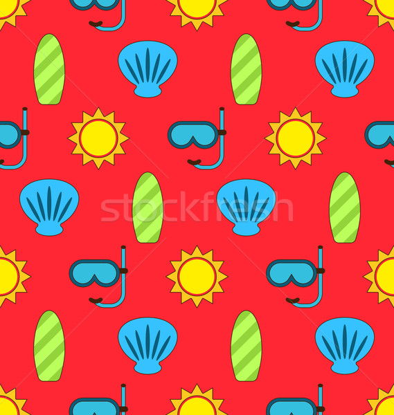 Colorful Seamless Wallpaper or Background Stock photo © smeagorl