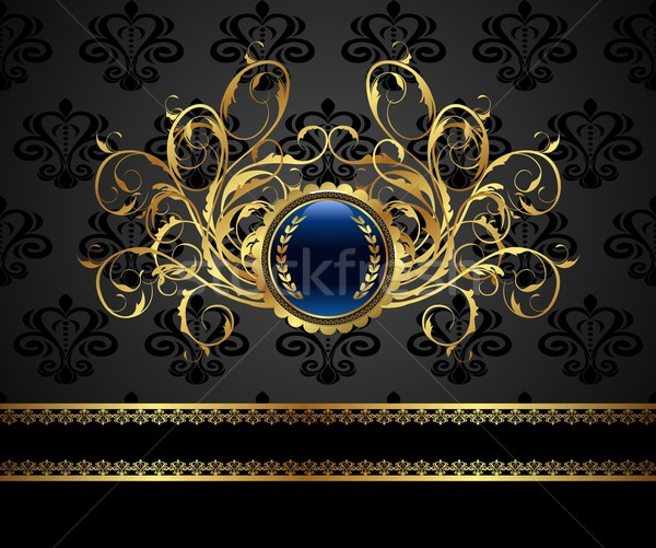 gold vintage frame for design packing Stock photo © smeagorl
