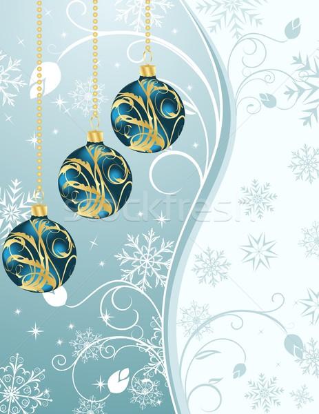Christmas ingesteld illustratie ontwerp achtergrond Stockfoto © smeagorl