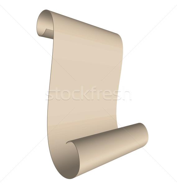 Illustratie oude scroll geïsoleerd witte blad Stockfoto © smeagorl