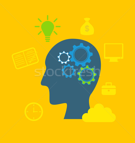 Concepts of intelligence, intellectual work, productivity, creat Stock photo © smeagorl