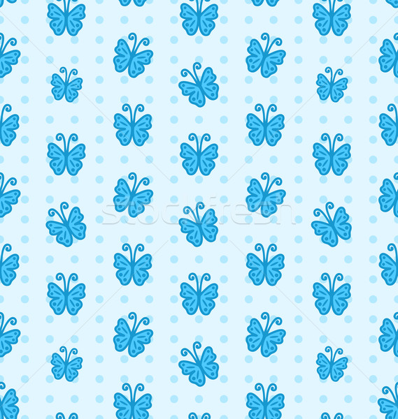 Seamless Pattern with Hand Drawn Butterflies Stock photo © smeagorl