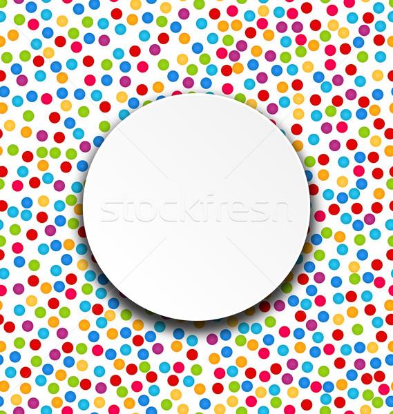 Cirkel frame confetti illustratie leuk kleurrijk Stockfoto © smeagorl