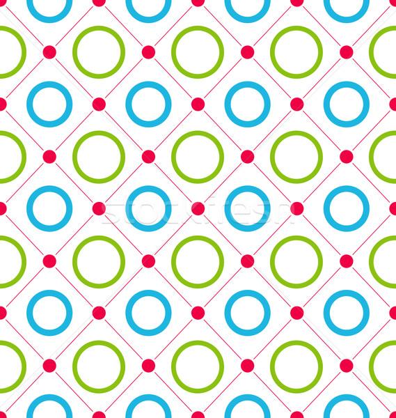 бесшовный геометрический текстуры Kid контраст иллюстрация Сток-фото © smeagorl