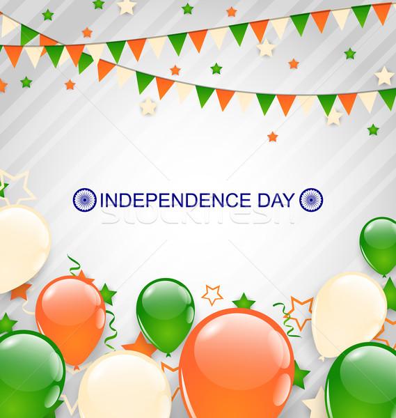Hint dekorasyon geleneksel üç renkli bayrak örnek Stok fotoğraf © smeagorl