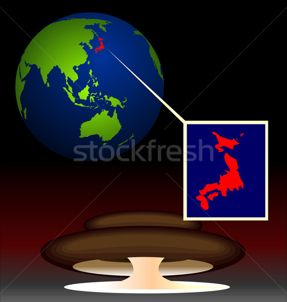 Illustration of global radioactive biohazard after damage on nuc Stock photo © smeagorl