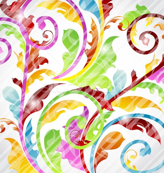 Abstract multicolor ornamental wallpaper, design elements Stock photo © smeagorl