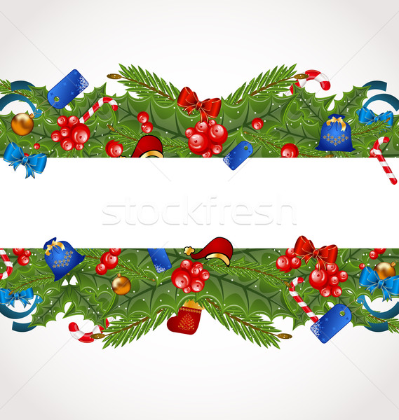 Christmas elegance card with holiday decoration Stock photo © smeagorl
