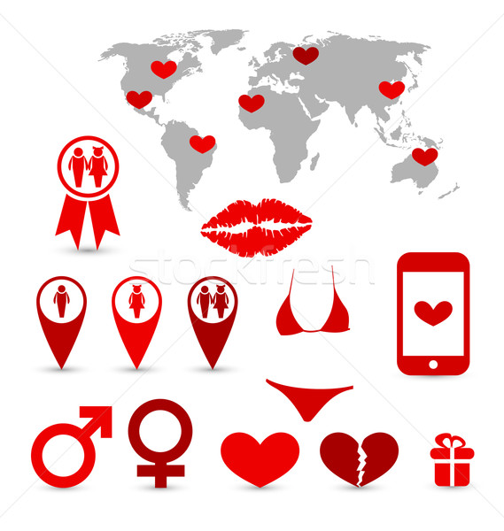 Valentine's Day infographics and design elements Stock photo © smeagorl
