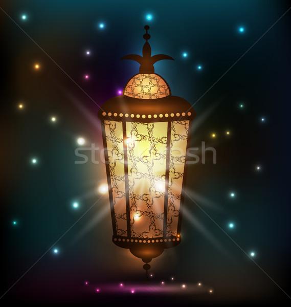 Ramadán arab lámpás illusztráció terv lámpa Stock fotó © smeagorl