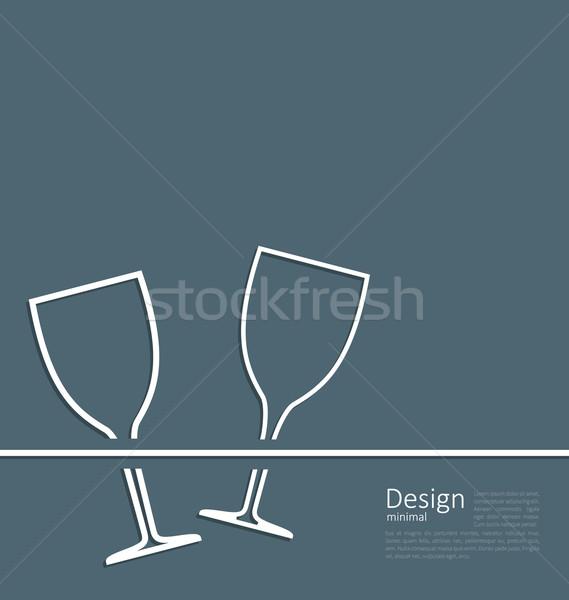 örnek iki düğün davetiyesi kart logo Stok fotoğraf © smeagorl