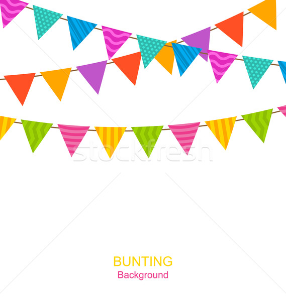 Colorful Buntings Flags Garlands Stock photo © smeagorl