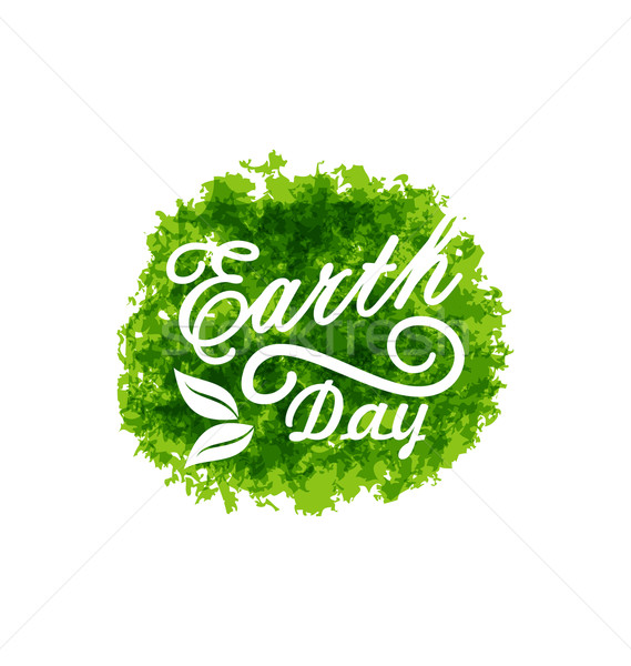 Celebration Background for Earth Day Lettering Stock photo © smeagorl