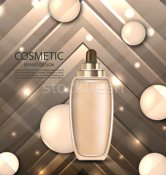 Glossy Cosmetic Bottle with Foundation Stock photo © smeagorl