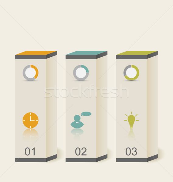 Modern boxes in minimal style for design infographic template Stock photo © smeagorl