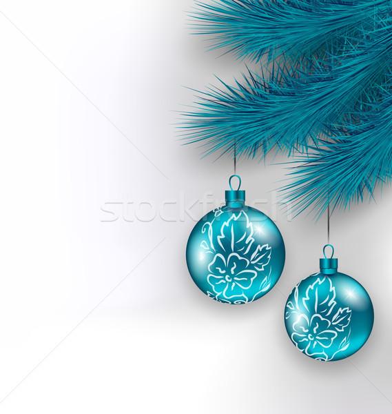 Zdjęcia stock: Wiszący · christmas · szkła · jodła · ilustracja