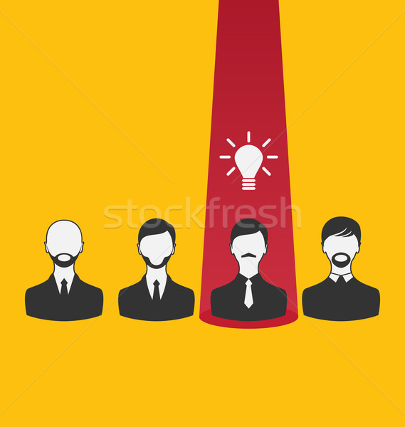 Emergence new creative idea, icon of business people Stock photo © smeagorl