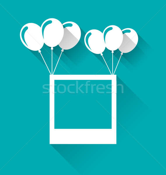 Blank photo frame with balloons for your holiday Stock photo © smeagorl