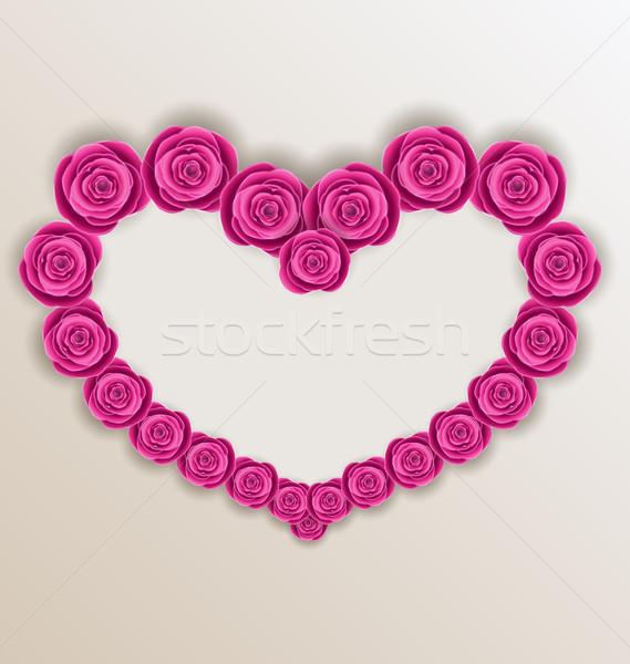 Zdjęcia stock: Elegancki · serca · róż · walentynki · dzień · kopia · przestrzeń