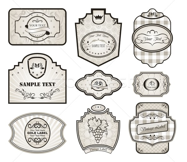 набор ретро изменение Vintage Этикетки иллюстрация Сток-фото © smeagorl