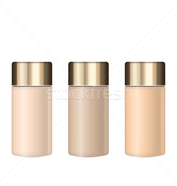 Collection Realistic Tubes of Foundations with Different Shades Stock photo © smeagorl