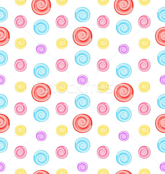 Seamless Pattern with Colored Lollipops Stock photo © smeagorl