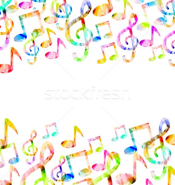 Rainbow Music Background Stock photo © smeagorl