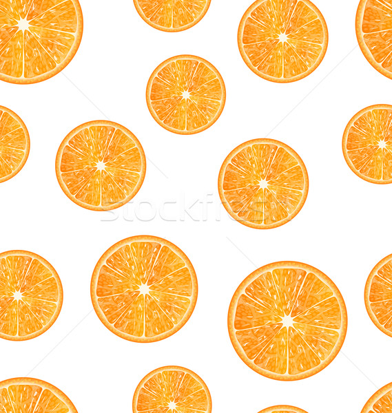 Seamless Texture with Slices of Oranges Stock photo © smeagorl
